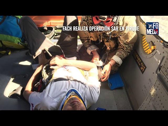 FACH realiza operación SAR por parapentista accidentado en Pirque con un MH-60M