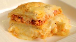 Lasagna Recipe  How To Make Chicken Lasagna  Nick Sarafs Foodlog