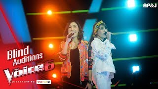 แนซ+กอล์ฟฟี่ - กรุณาฟังให้จบ - Blind Auditions - The Voice Thailand 6 - 26 Nov 2017