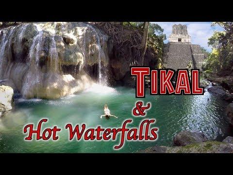 Traveling Guatemala Tikal & Hot Spring Waterfalls OVERLAND TRAVEL SAGA Ep. 42
