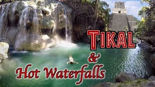 Traveling Guatemala Tikal & Hot Spring Waterfalls OVERLAND TRAVEL SAGA Ep. 42