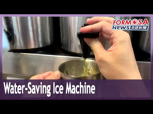 Drinks shop surfs drought with a water-recycling ice machine