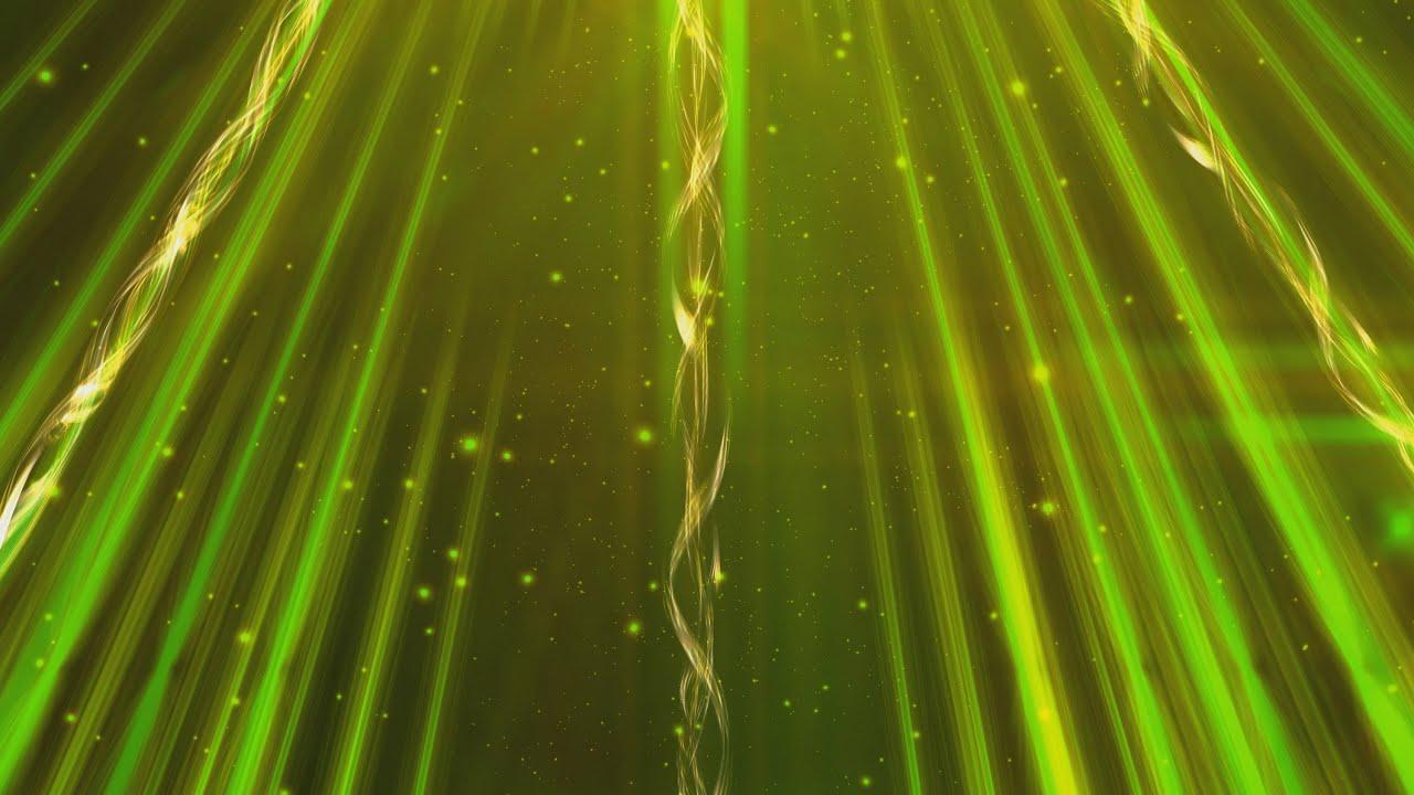 4K Golden Green Shining Twirl Lines 2160p Motion ...