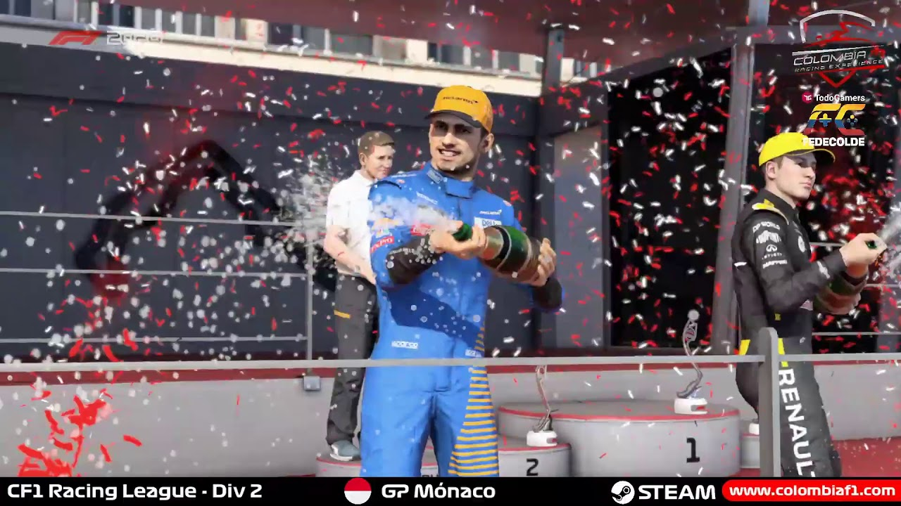 GP Mónaco F12020 Steam CF1 Racing League Div 2 Fecha 8 Colombia F1 Racing Experience