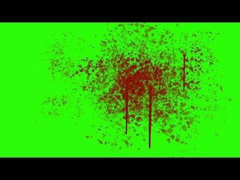 Blood Splatter Green Screen Effects