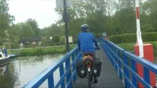 Bicycle Drawbridge In Holland