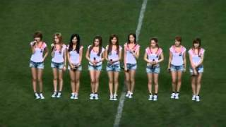 20090808 tell me your wish genie gee snsd at jomo cup pro football korea japan all star match