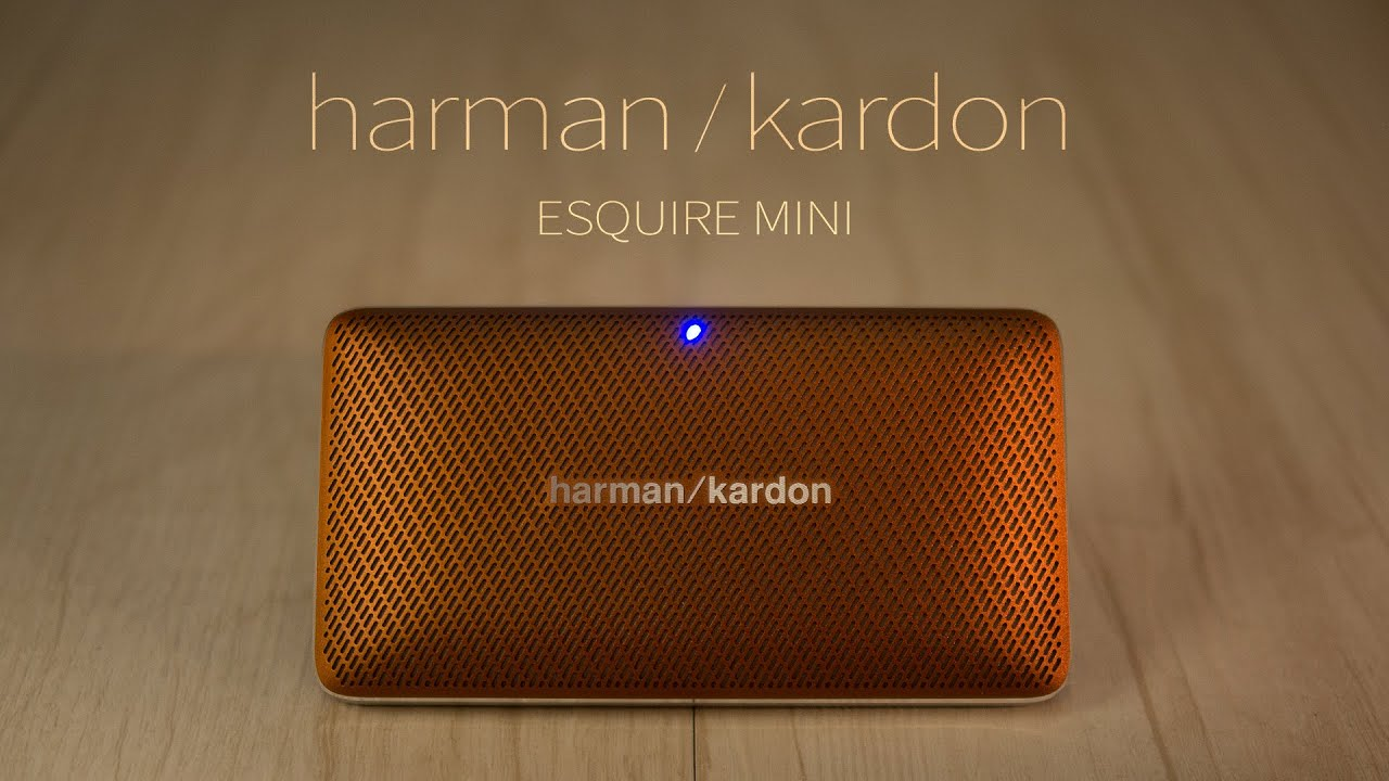 harman kardon esquire mini bluetooth speaker youtube. Black Bedroom Furniture Sets. Home Design Ideas