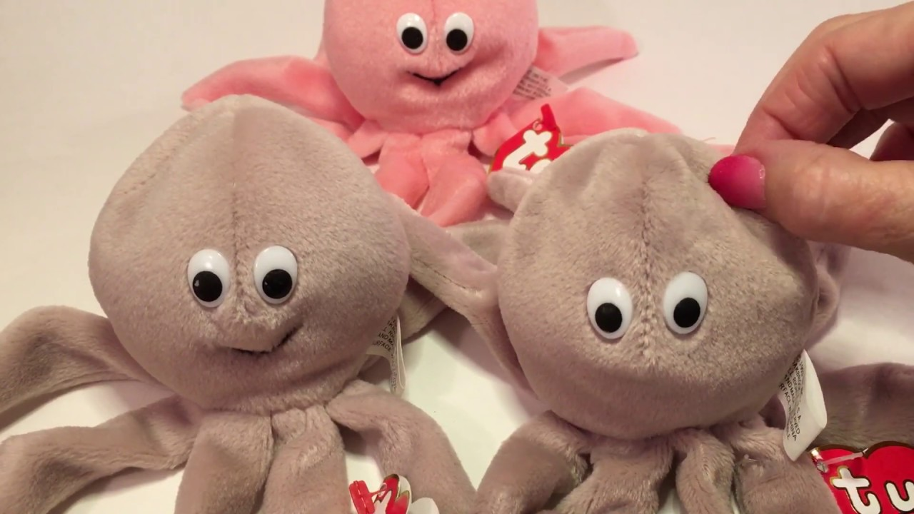 5dfdc933cea Ty Beanie Baby Inky - Without a Mouth vs With a Mouth. Beanie Babies Price  Guide