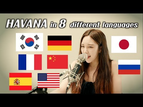 One girl singing 'Havana' in 8 different languages (by.Chuth