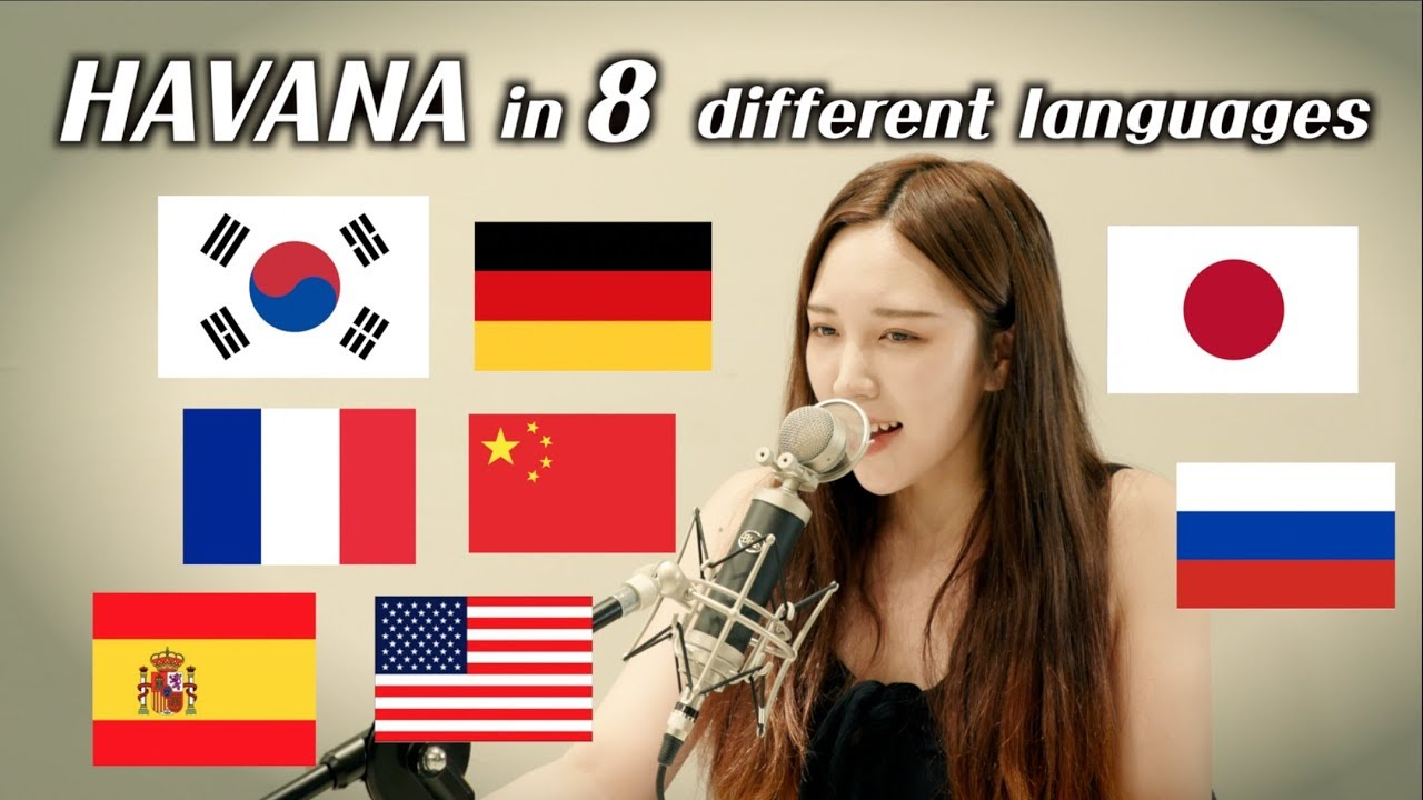 One girl singing 'Havana' in 8 different languages (by.Chuther)/ 하바나를 8개 국어로 부르면??! #1