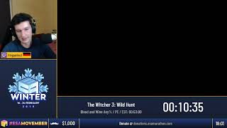 #ESAMovember Speedruns - The Witcher 3: Wild Hunt [Blood and Wine Any%] by triggerino1