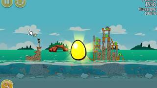 Angry Birds Seasons. Piglantis (level 2-4) Golden Egg Прохождение от SAFa