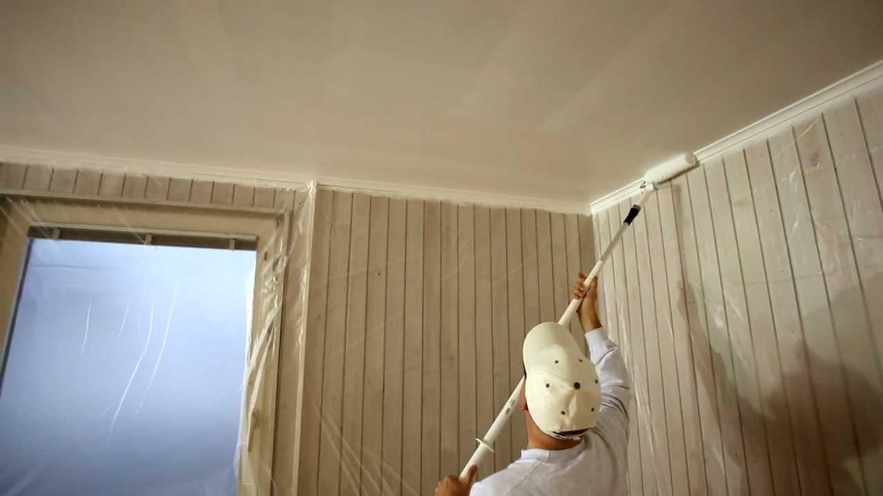 Inredning måla på gammal tapet : MÃ¥la tak - steg för steg - YouTube