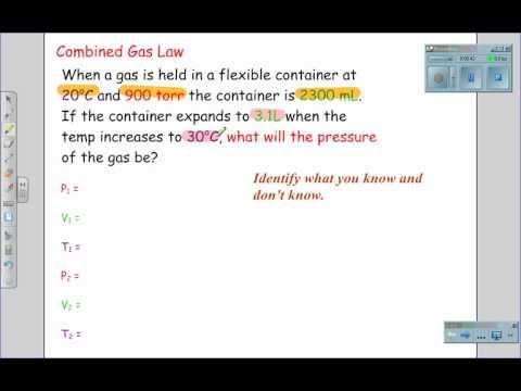 How does the ideal gas law differ from the combined gas law