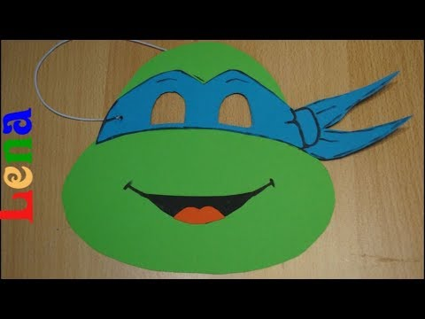 Ninja Schildkröte Maske Basteln How To Make Ninja Turtle Mask делаем черепашку ниндзя