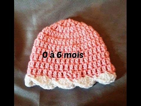 1a094b48a8fe Crochet bonnet bébé de 0 a 6 mois - YouTube