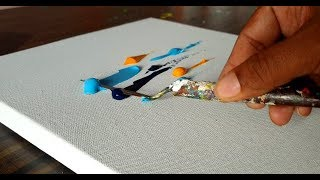 Beautiful Abstract Painting / Easy / Very Satisfying / Demonstration / Project 365 days / Day #0225