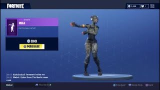Fortnite: Battle Royale - New Emote - Hula (Elite Agent Skin)