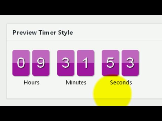 Таймер обратного отсчёта  wordpress | Плагин Uji Countdown