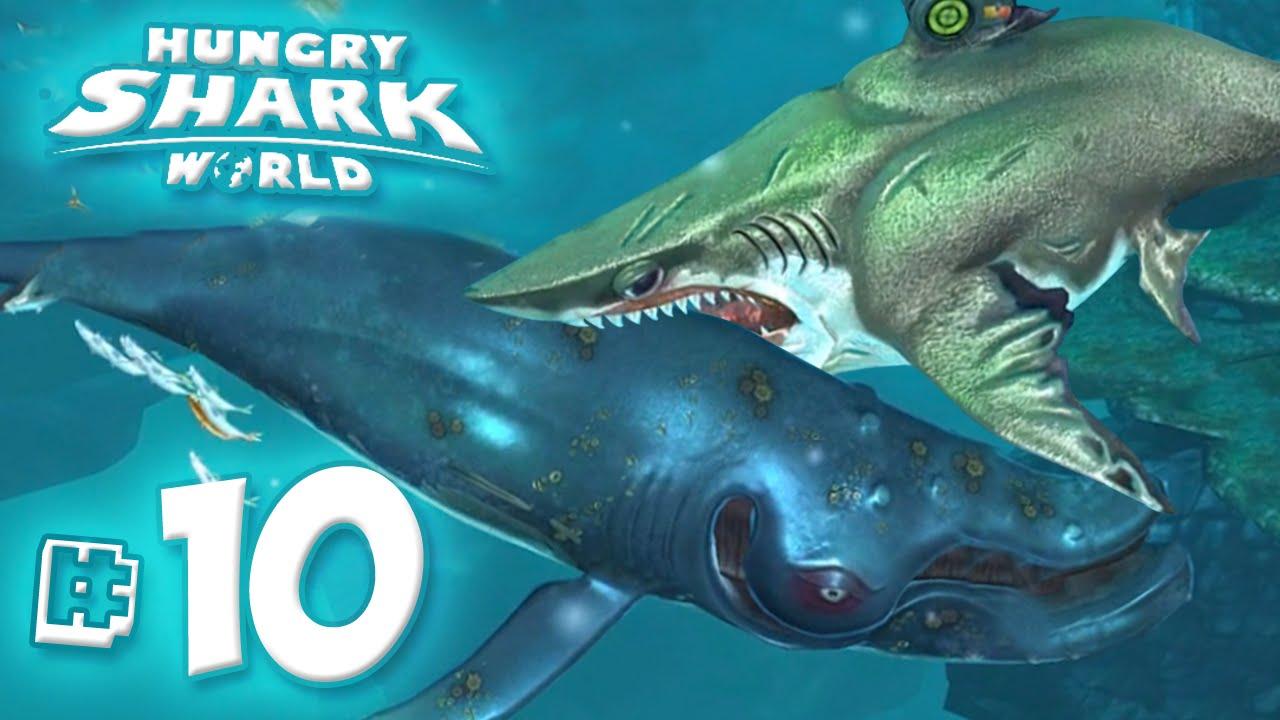 MEGALODON EATS WHALES!! - Hungry Shark World | Ep10 HD - YouTube