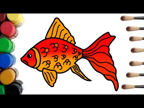 Goldfish Coloring Pages | How to Draw and Color a Goldfish