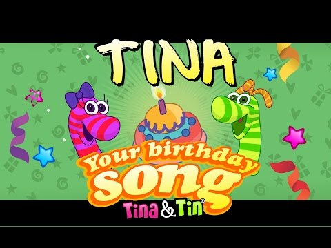 Tina & Tin Happy Birthday TINA (Personalized Songs For Kids) #PersonalizedSongs