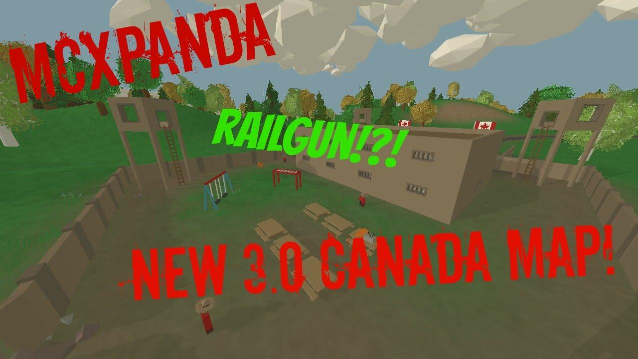 Unturned 3 0 Canada Map And Railgun Live Stream Info In Description