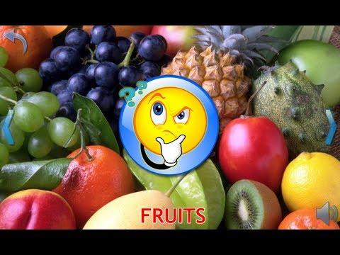 Учим фрукты по английски для детей с произношением в картинках
