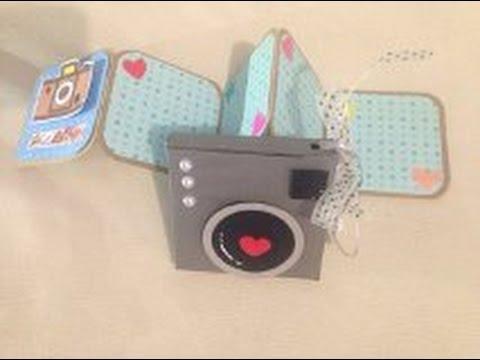 Diy lbum acorde n con caja c mara scrapbook youtube - Como hacer una caja de carton ...