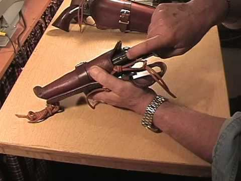 TWO HOLSTER GUN BELT RIG  011014