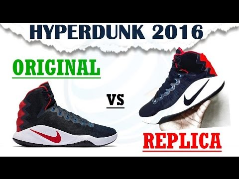 Original vs fake Nike Hyperdunk 2016 sneakers replica Spanish still Raising  your level!