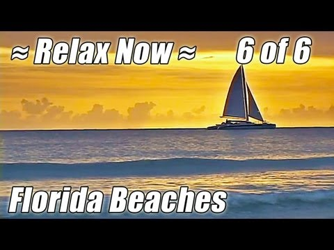 Relaxing Ocean Wave Sounds FLORIDA BEACHES #6 Jacksonville Cocoa Beach Miami Key Biscayne Naples