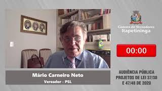 Audiência Pública - Projetos 37,38,47 e 48 de 2020