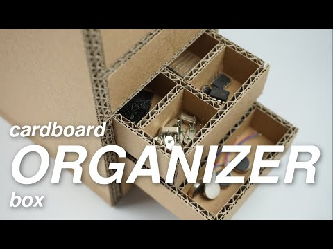 How to make Cardboard Organizer  [DIY Projects]