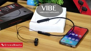 CrossBeats Vibe Wireless Bluetooth Headset with Mic & Neckband | Super Bass Earphone