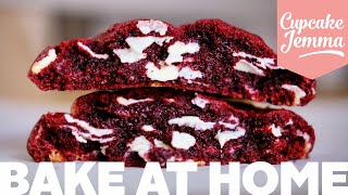 Red Velvet New York Cookie Recipe! | Cupcake Jemma