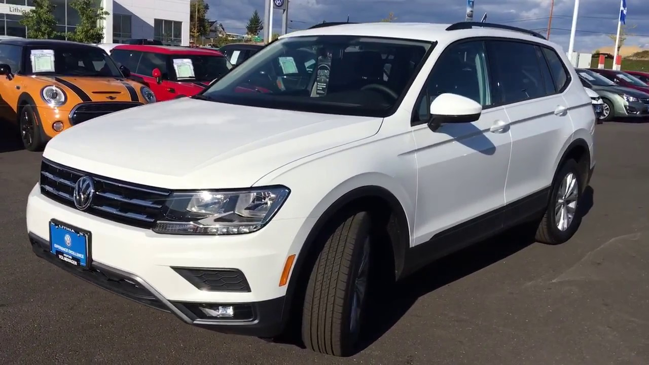 2018 vw tiguan s w 4 motion pure white youtube. Black Bedroom Furniture Sets. Home Design Ideas