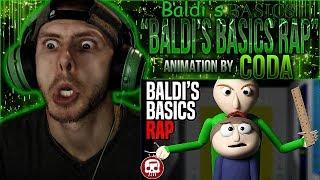 Vapor Reacts 735  SFM BALDIS BASICS ANIMATION Baldis Basics Rap by JT Music Coda REACTION