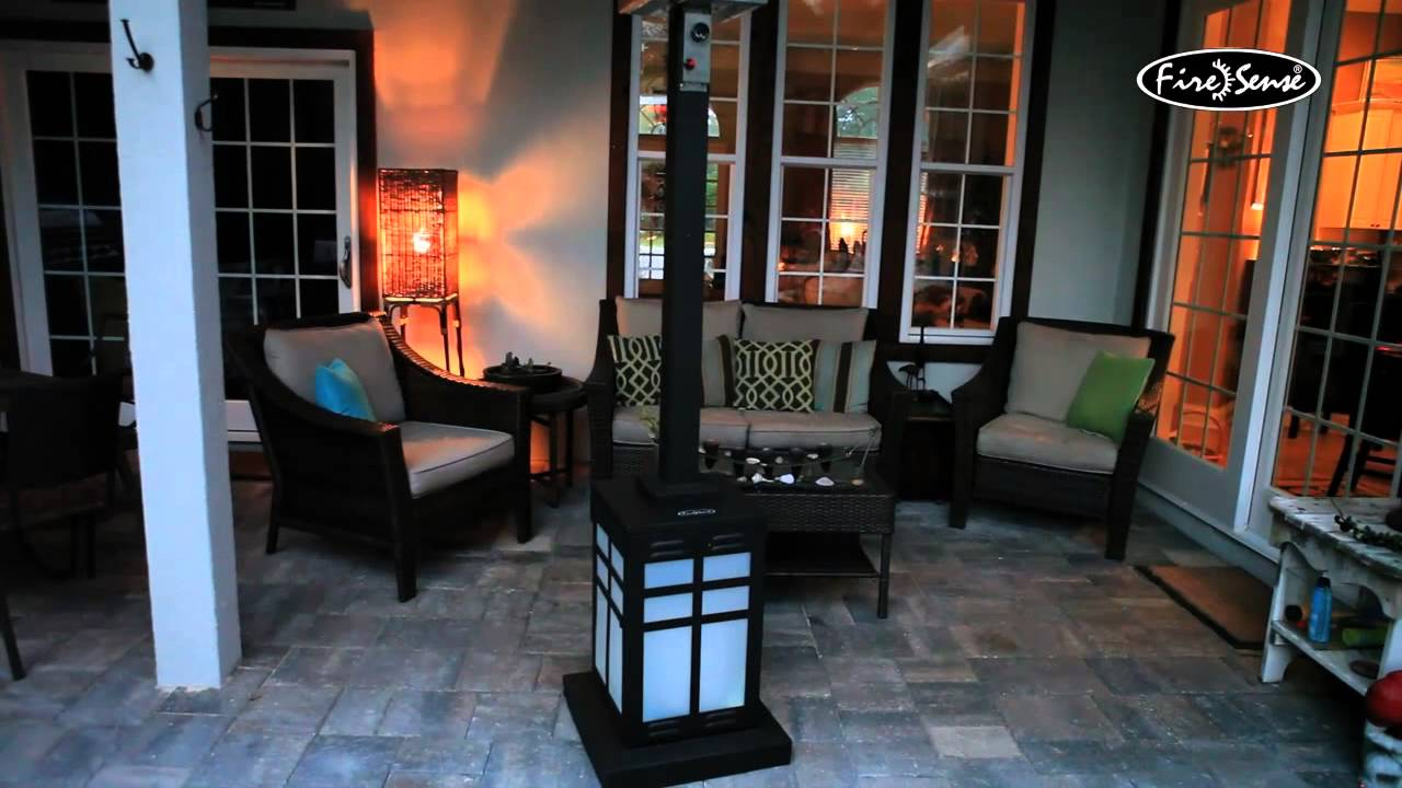 Fire Sense Square Illuminated Propane Patio Heater 60951   46000