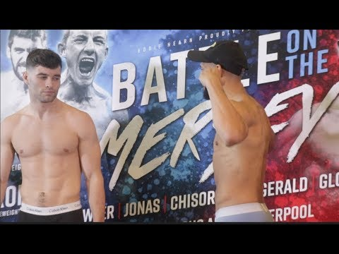 NOT IMPRESSED! SCOTT FITZGERALD v BRADLEY PRYCE - OFFICIAL WEIGH IN & HEAD TO HEAD