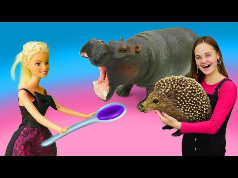 игры для девочек - Кукла Барби лечит зверей в Зоопарке! -  шоу Будет исполнено