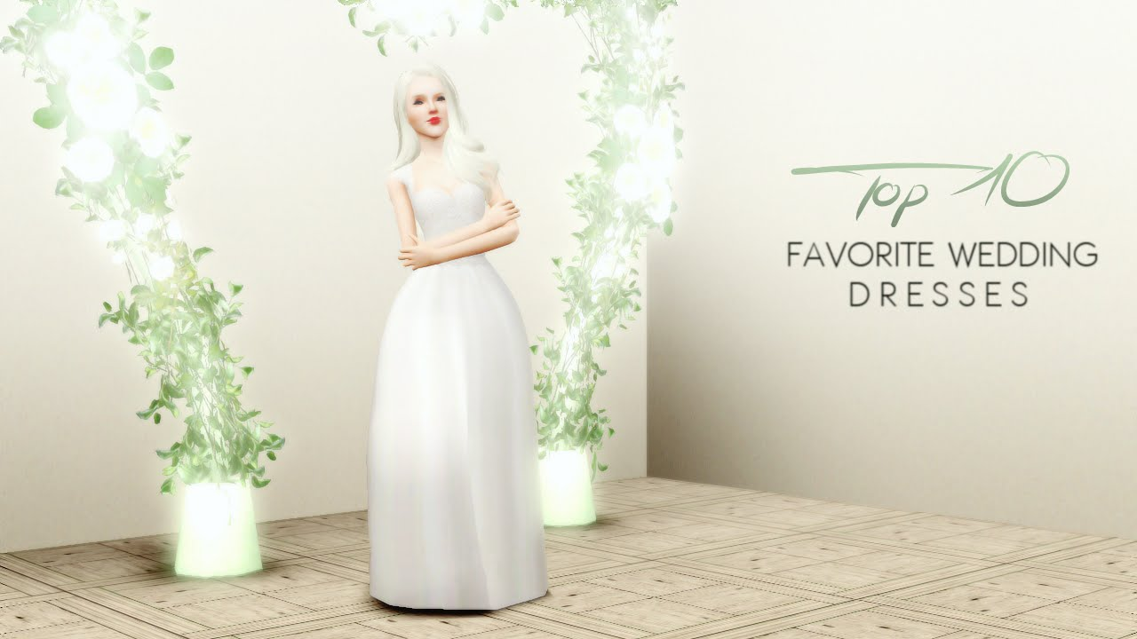 The Sims 3 My Top 10 Favorite Wedding Dresses