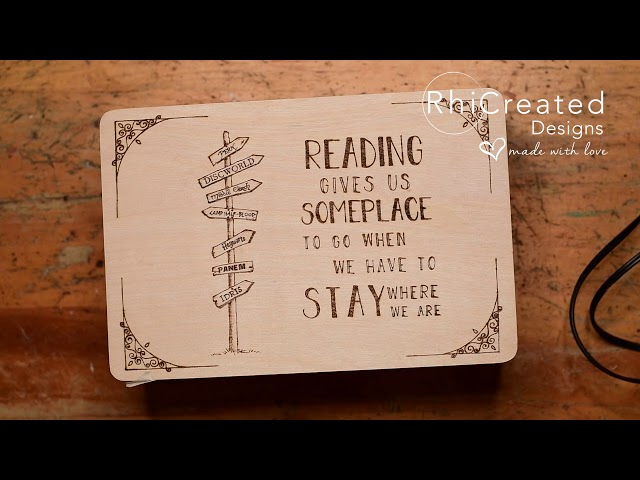 Booklovers Keepsake Box - Woodburning Timelapse