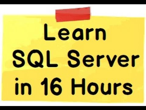 sql server tutorial for beginners