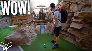 AWESOME MINI GOLF COURSE INSIDE ONE OF THE BIGGEST MALLS IN AMERICA!
