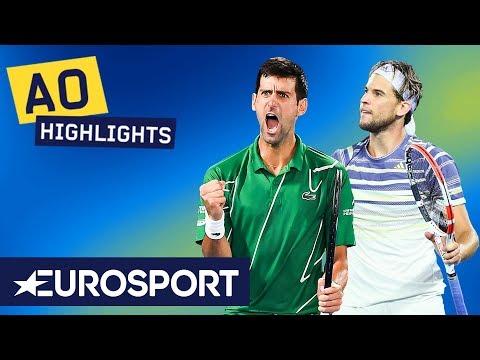Novak Djokovic Vs Dominic Thiem Extended Highlights   Australian Open 2020 Final   Eurosport