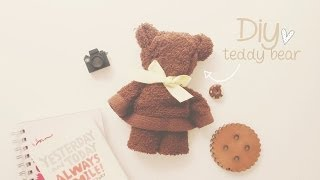 Repeat youtube video DIY: OSITO CON TOALLA (TEDDY BEAR) ♥