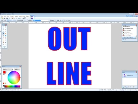 How to Create Outlined Text In Paint.NET (Tutorial)