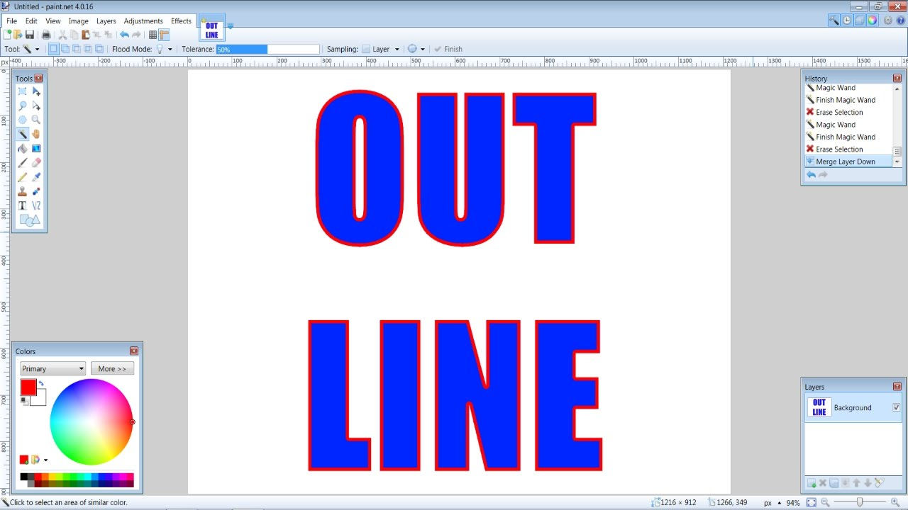 How to create outlined text in paint tutorial youtube how to create outlined text in paint tutorial baditri Image collections